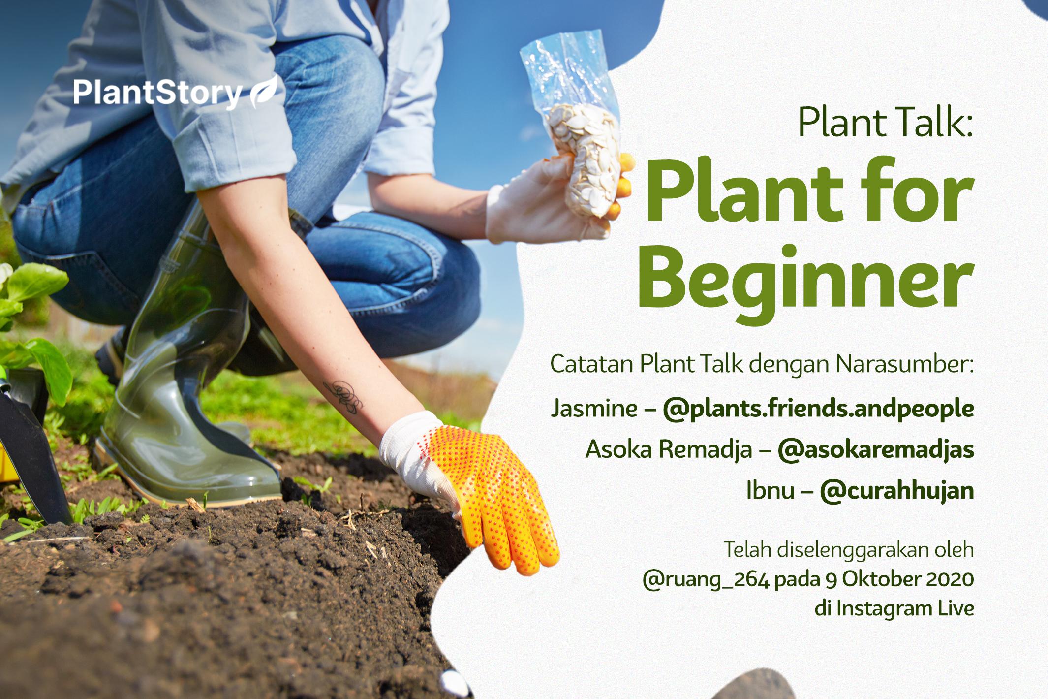 Plant Talk: Plant for Beginner